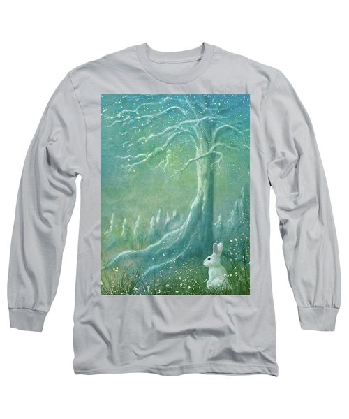 Long Sleeve T-Shirt featuring the digital art Winters Coming by Ann Lauwers