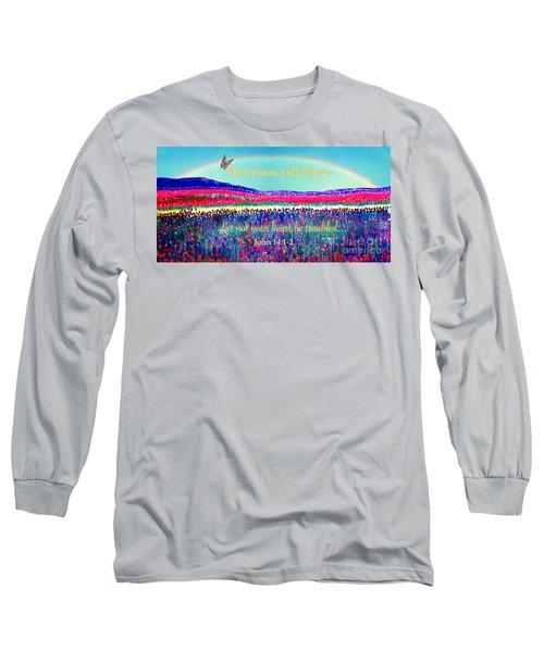 Wishing You The Sunshine Of Tomorrow Bereavement Card Long Sleeve T-Shirt by Kimberlee Baxter