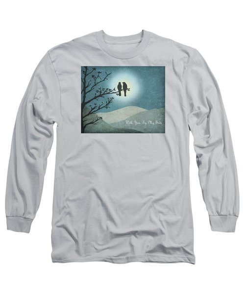 Long Sleeve T-Shirt featuring the digital art With You By My Side Landscape View by Christina Lihani