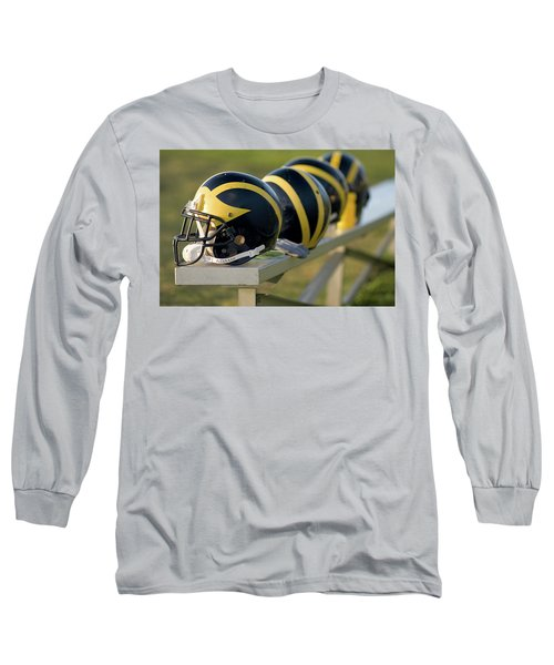 Wolverine Helmets On A Bench Long Sleeve T-Shirt