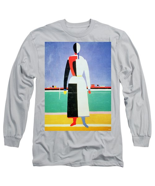 Woman With A Rake Long Sleeve T-Shirt