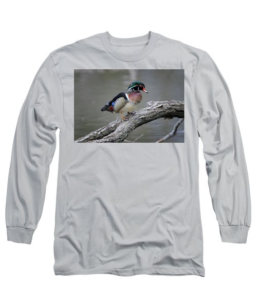 Wood Duck Drake Long Sleeve T-Shirt