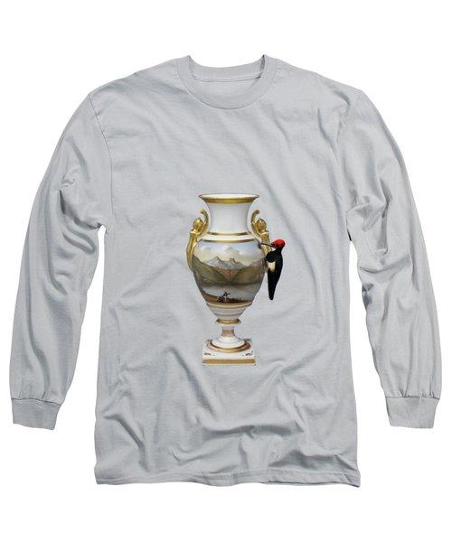 Wood Pecker's Dream Long Sleeve T-Shirt by Keshava Shukla