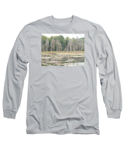 Woodbourne Swamp Long Sleeve T-Shirt by Christine Lathrop
