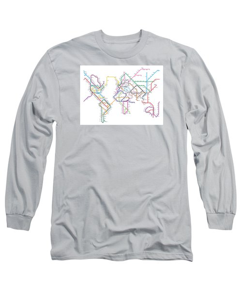 World Metro Tube Map Long Sleeve T-Shirt