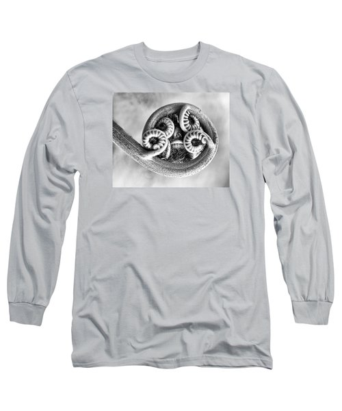Wound Up Tight In Bw Long Sleeve T-Shirt