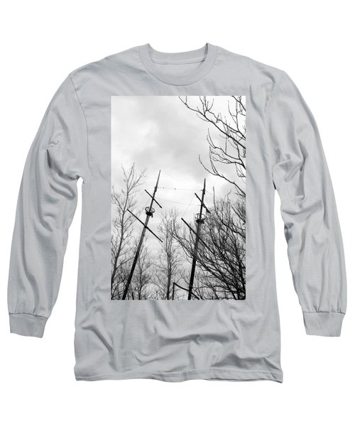 Long Sleeve T-Shirt featuring the photograph Wrecked by Valentino Visentini