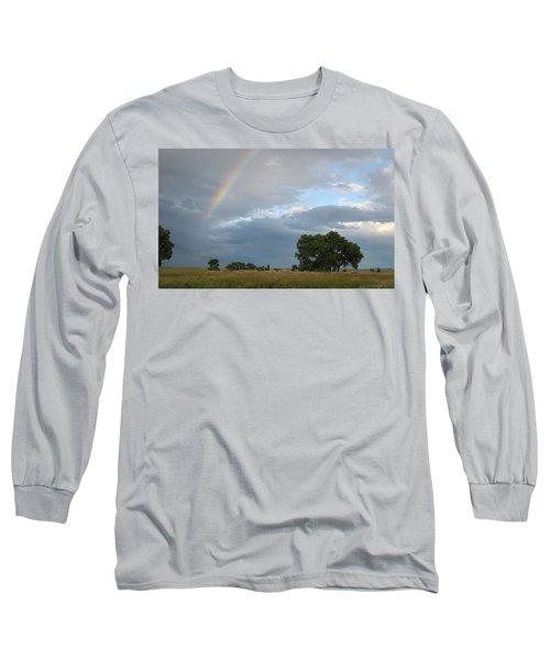 Wyoming Rainbow Long Sleeve T-Shirt