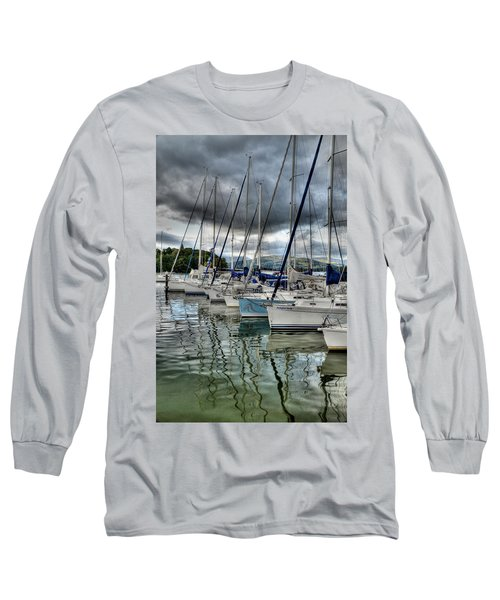 Yachts On Lake Windermere Long Sleeve T-Shirt