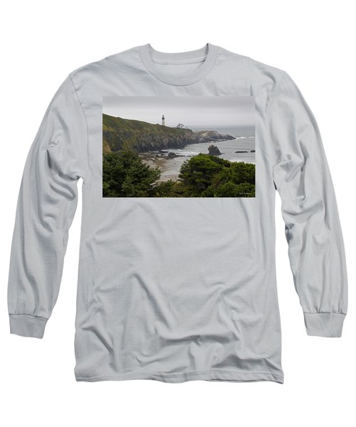 Yaquina Head Lighthouse View Long Sleeve T-Shirt