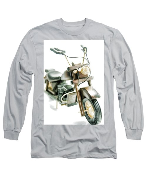 Yard Sale Wooden Toy Motorcycle Long Sleeve T-Shirt by Wilma Birdwell