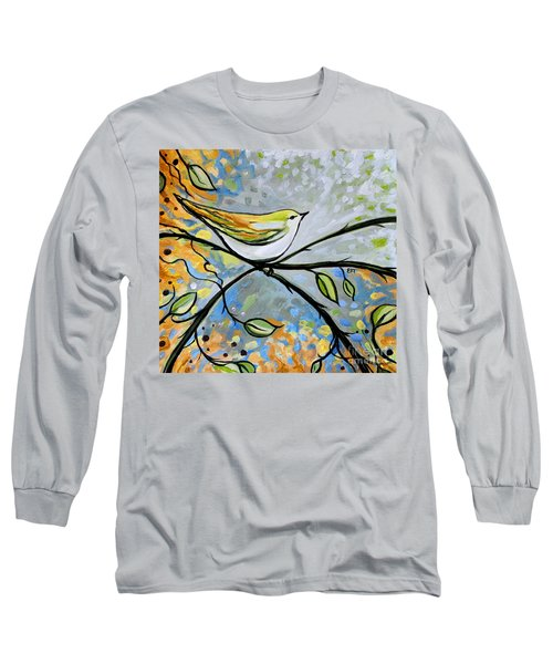 Yellow Bird Among Sage Twigs Long Sleeve T-Shirt