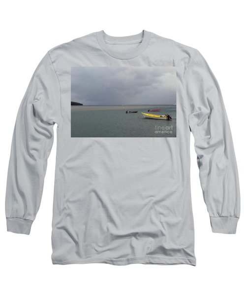 Long Sleeve T-Shirt featuring the photograph Yellow Boat by Gary Wonning