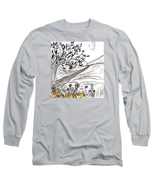 Yellow Cats Long Sleeve T-Shirt by Lou Belcher