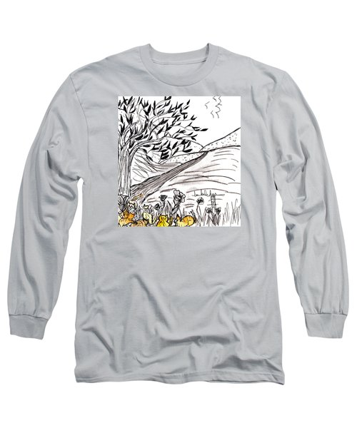 Yellow Cats Long Sleeve T-Shirt