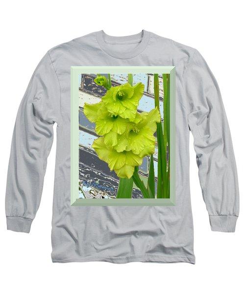 Yellow Gladiolas Long Sleeve T-Shirt