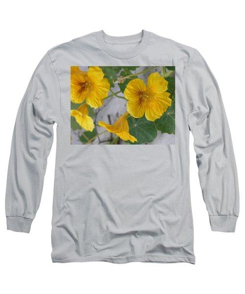 Yellow Nasturtium Long Sleeve T-Shirt