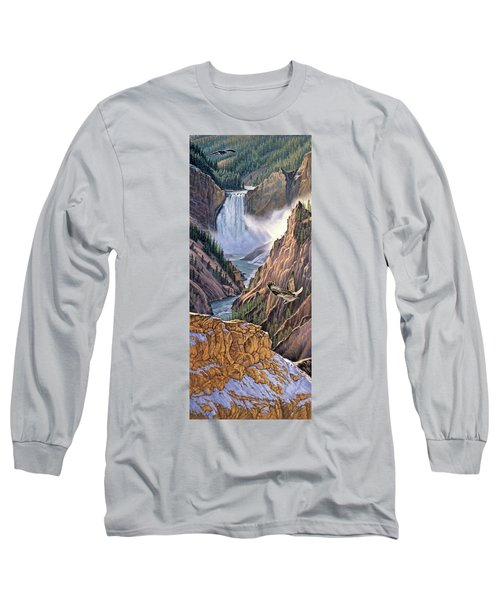 Yellowstone Canyon-osprey Long Sleeve T-Shirt by Paul Krapf