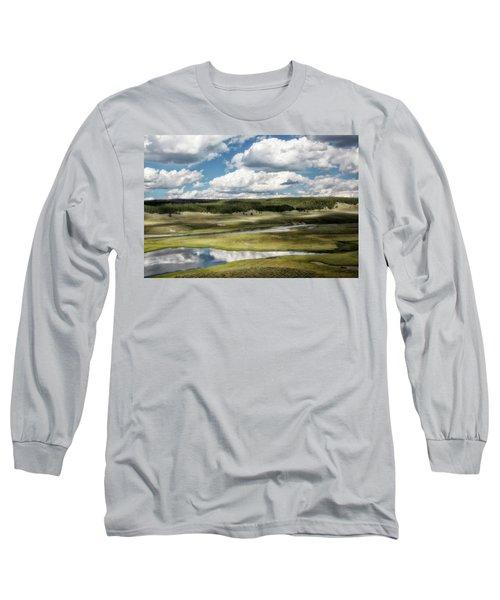 Yellowstone Hayden Valley National Park Wall Decor Long Sleeve T-Shirt