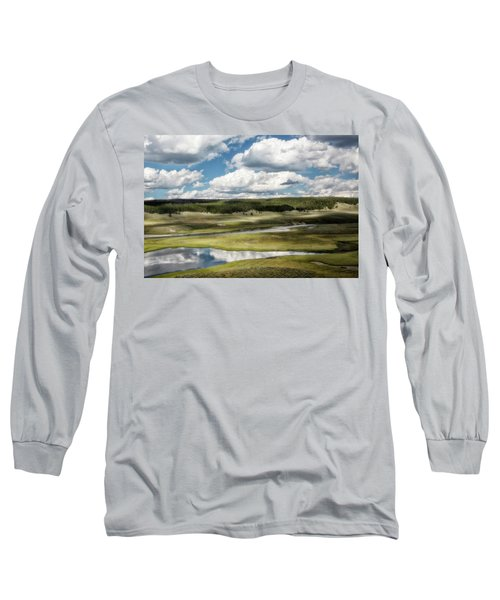 Yellowstone Hayden Valley National Park Wall Decor Long Sleeve T-Shirt