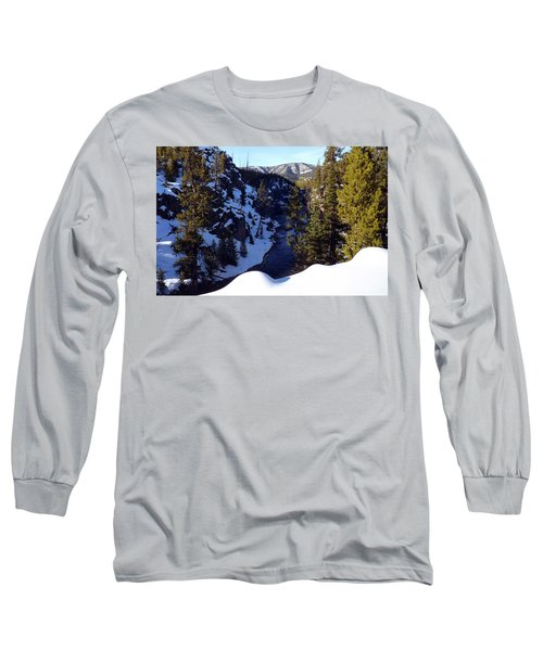 Yellowstone In Winter Long Sleeve T-Shirt by C Sitton