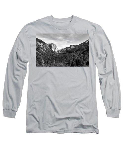 Yosemite B/w Long Sleeve T-Shirt