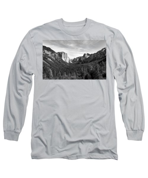 Yosemite B/w Long Sleeve T-Shirt