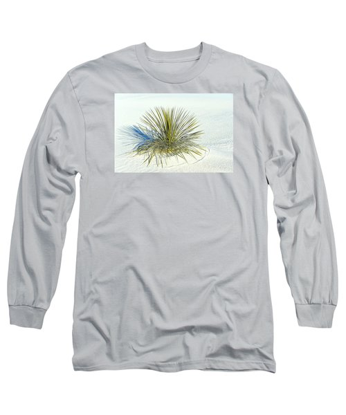 Long Sleeve T-Shirt featuring the photograph Yucca In White Sand by Jerry Cahill