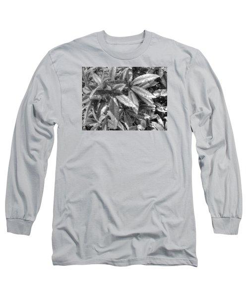 Long Sleeve T-Shirt featuring the pyrography Yury Bashkin Black Green by Yury Bashkin