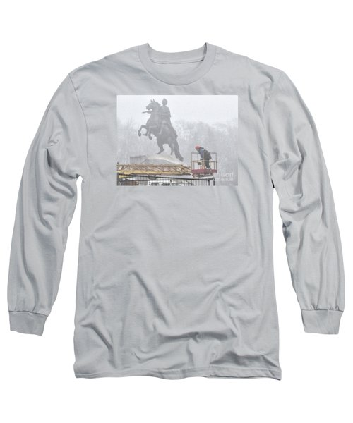 Yury Bashkin The Fog Street Peterburg Long Sleeve T-Shirt