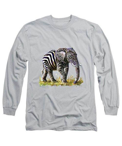 Zebraphant Long Sleeve T-Shirt by Anthony Mwangi