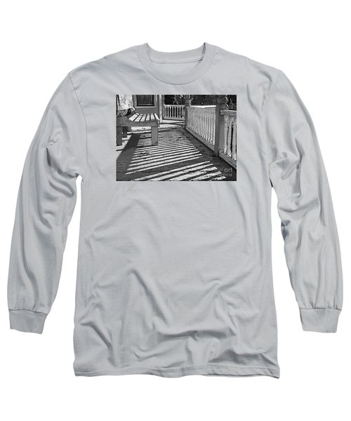 Long Sleeve T-Shirt featuring the photograph Zebra Porch by Betsy Zimmerli