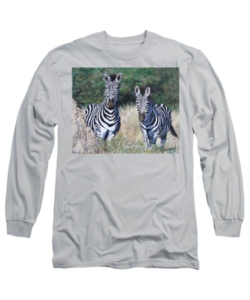 Zebras In South Africa Long Sleeve T-Shirt