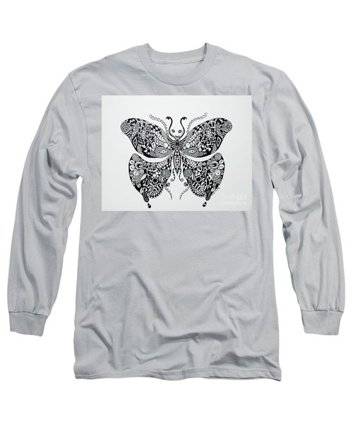 Zen Butterfly Long Sleeve T-Shirt by Tamyra Crossley