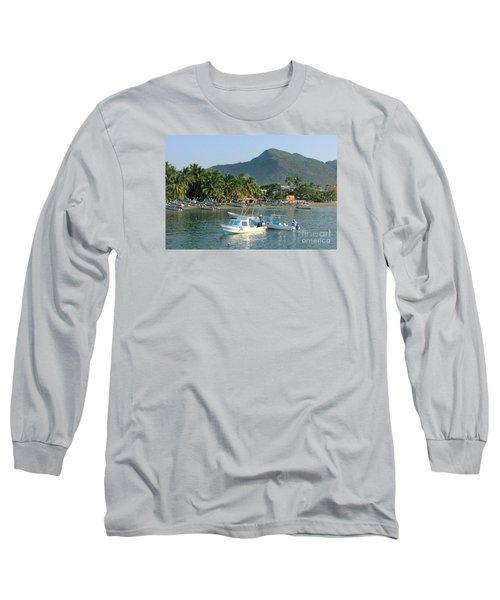 Zihwatanejo Beach Front Long Sleeve T-Shirt