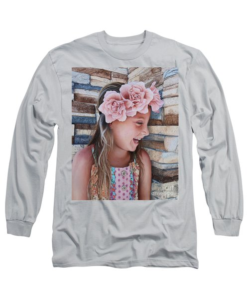 Zuri Painting Long Sleeve T-Shirt by Mike Ivey