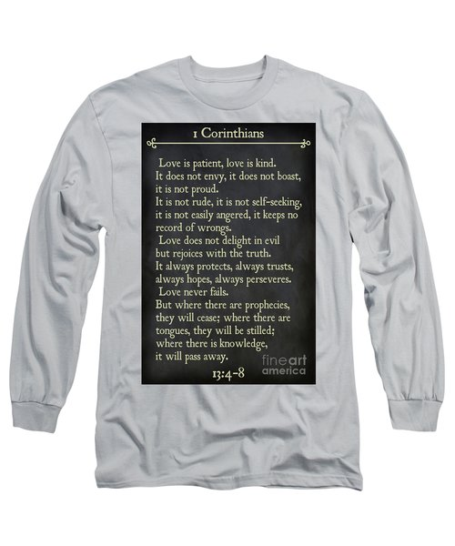 1 Corinthians 13 4-8- Inspirational Quotes Wall Art Collection Long Sleeve T-Shirt