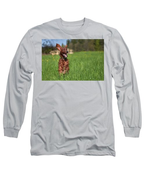 Happy Setter Long Sleeve T-Shirt