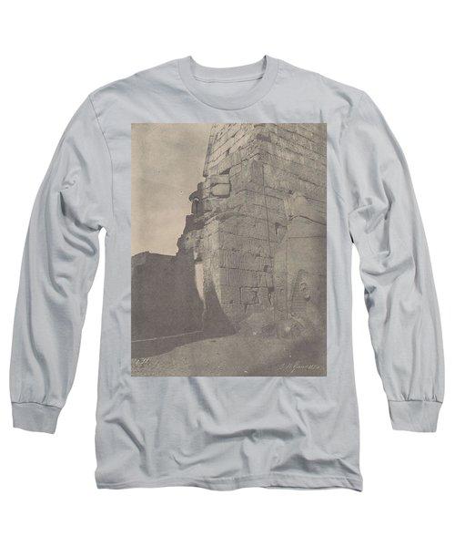 Luxor  Historical Sculptures Of Pylon  Massif Right   Long Sleeve T-Shirt