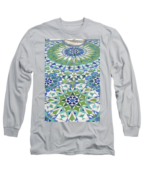 Mosaic Exterior Decorations Of The Hassan II Mosque Long Sleeve T-Shirt
