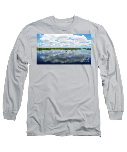 Skyscape Reflections Blue Cypress Marsh Near Vero Beach Florida C6 Long Sleeve T-Shirt