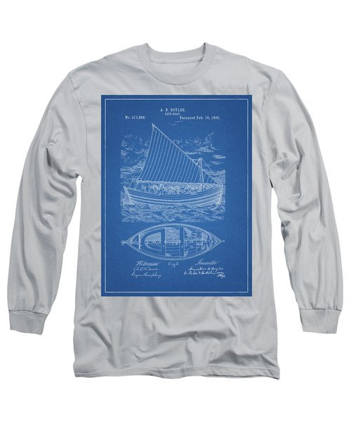 1885 Life Boat Patent Long Sleeve T-Shirt