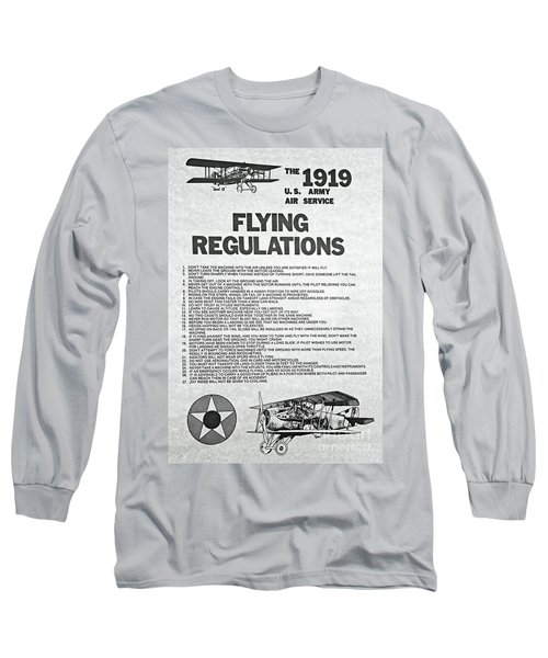 1919 Flying Regulations Poster Long Sleeve T-Shirt