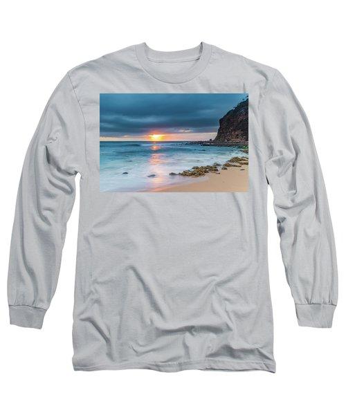 Sunrise Seascape And Cloudy Sky Long Sleeve T-Shirt