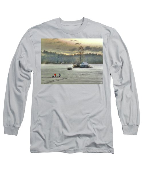 A Warm Glow On A Cool Scene Long Sleeve T-Shirt