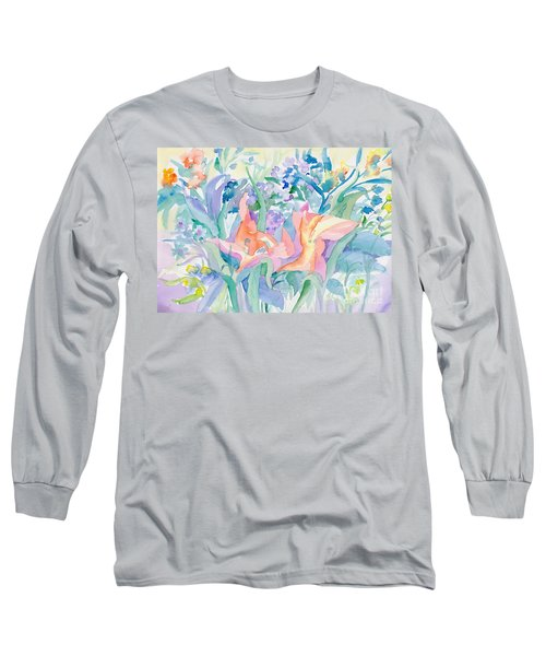 Abstract Lilies Long Sleeve T-Shirt