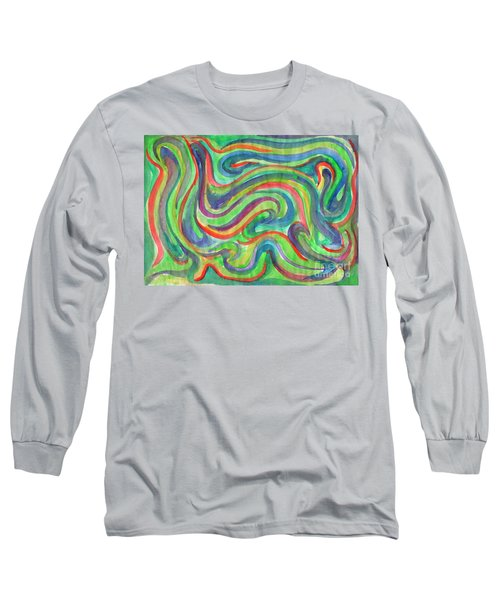 Abstraction In Summer Colors Long Sleeve T-Shirt