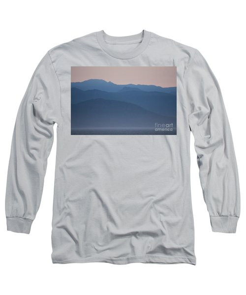 Alaska Inside Passage Mountains Long Sleeve T-Shirt