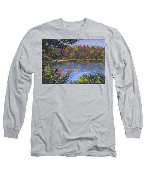 Algonquin Lake Sketch Long Sleeve T-Shirt