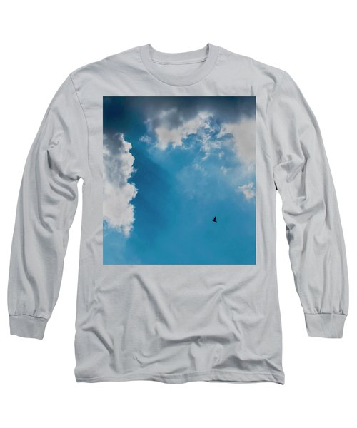 Colours. Blue. Alone. Long Sleeve T-Shirt